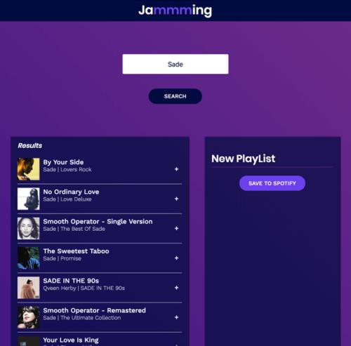 jammming – React App