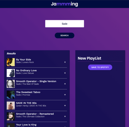 jammming – React App