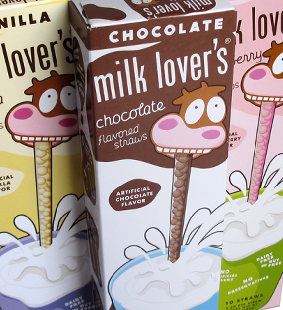 milk lover's Flavored Straws Rebrand and Redesign