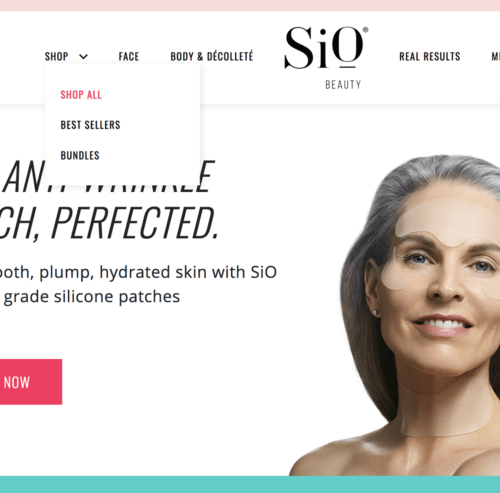 SiO Beauty Landing Page