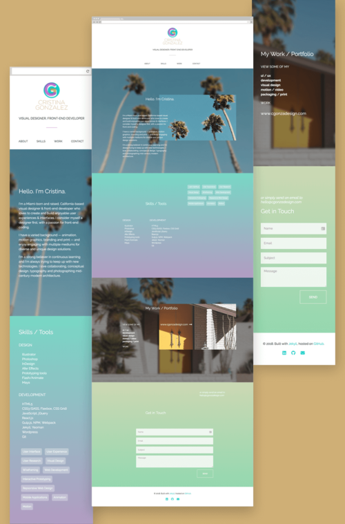 Portfolio Site — Design & Development